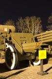 苏维埃二战122mm短程高射炮M1910/30 免版税库存图片