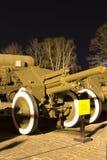 苏维埃二战122mm短程高射炮M1938 (M-30) 免版税库存图片