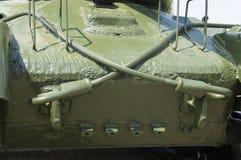 苏维埃T-34坦克的前面装甲 免版税库存图片