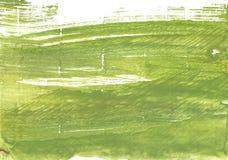 苔绿色摘要水彩背景 免版税库存图片