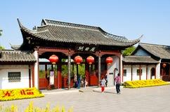 苗条西湖在扬州 免版税库存照片