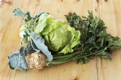 莴苣、芹菜和撇蓝 免版税库存照片
