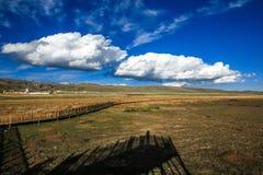 若尔盖草原,夏河, Gannan,中国 免版税库存照片