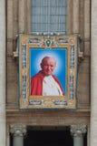 若望保禄二世教皇若望二十三世和将将封为圣人 图库摄影