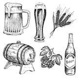 苦涩啤酒 库存照片