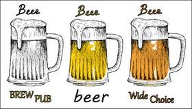 苦涩啤酒 库存图片