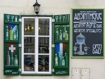 苦艾酒商店在布拉格 库存照片