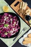 苦苣生茯沙拉用被设置的开胃菜 免版税库存照片