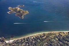 苦难海岛,天线,波士顿,麻省,美国在一个晴天 库存图片