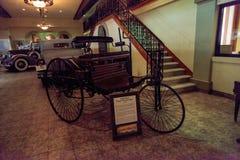 1886苯专利Motorwagen 库存照片