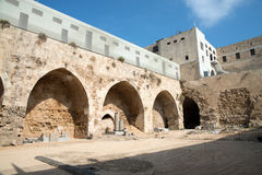 英亩,以色列-城堡和监狱 图库摄影