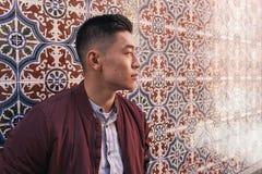 英俊的中国年轻人画象  免版税图库摄影