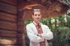 年轻英俊的乌克兰人 图库摄影
