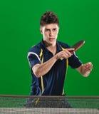 英俊的乒乓球球员 库存图片