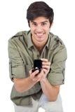 英俊的人提供的定婚戒指 库存照片