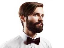 英俊的人画象有胡子的 免版税图库摄影
