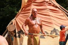 英俊的印第安人 免版税库存照片