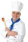 英俊的厨师 库存图片