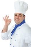 英俊的厨师 免版税库存照片