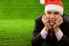 英俊的圣诞老人 免版税库存照片