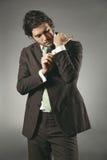英俊的式样佩带的链扣 免版税图库摄影