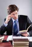 英俊的律师 免版税库存照片