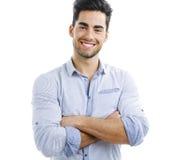 英俊的愉快的人年轻人 免版税库存照片