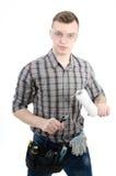 年轻英俊的杂物工 免版税图库摄影