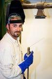 英俊的焊工 图库摄影