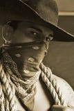 英俊的牛仔 免版税库存照片