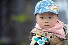英俊的男婴 免版税图库摄影