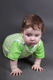 英俊的矮小的男婴 免版税图库摄影