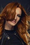 英俊的红头发人秀丽秀丽画象  库存图片