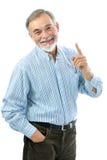 英俊的老人画象  免版税库存照片