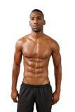 英俊的肌肉黑人(14) 库存图片
