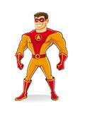 英俊的超级英雄 库存图片