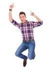 英俊的跳的人 免版税库存照片