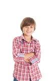 英俊的青少年的男孩 免版税图库摄影