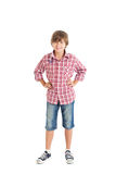 英俊的青少年的男孩 免版税库存照片
