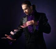 英俊的魔术师 库存图片
