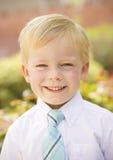 英俊的年轻男孩画象 库存图片