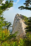 英俊的huashan西部peak_xian_shanxi 库存图片