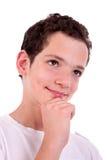 英俊青少年认为 库存图片
