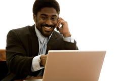 英俊非洲裔美国人的生意人 免版税图库摄影