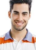 英俊年轻人微笑 库存图片