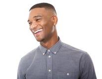 英俊年轻黑人笑 免版税库存图片