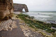 英吉利海峡的法国海岸在诺曼底 库存图片