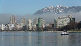 英吉利湾冬天薄雾,温哥华 股票视频