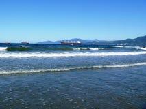 英吉利湾,第三个海滩,温哥华, BC,加拿大 库存图片