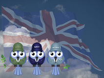 英国三军部队 库存图片